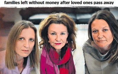 FINANCIAL FURY: Calls for change as grieving partners and families left without money after loved ones pass away